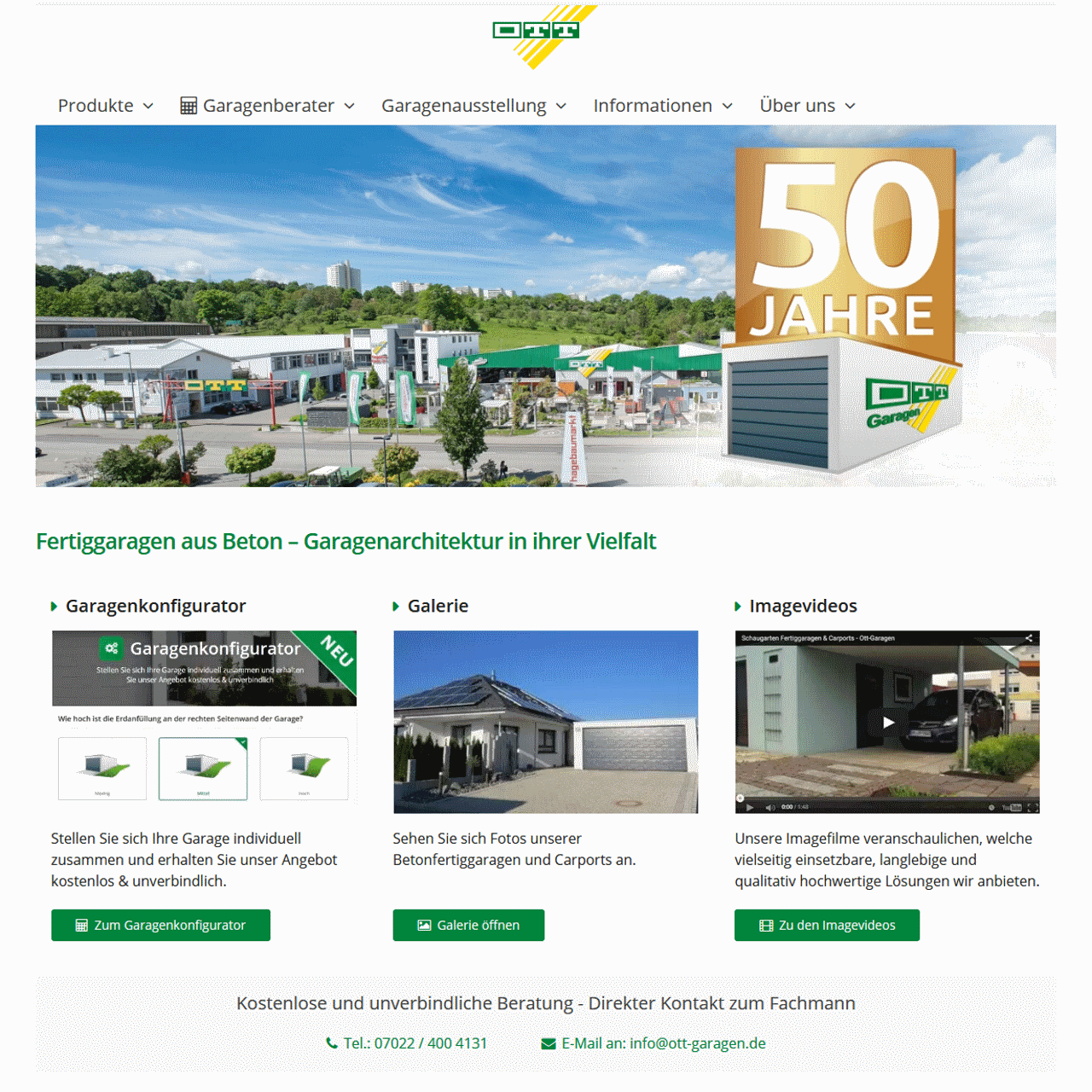 Ott Betonwerke - Ott Garagen